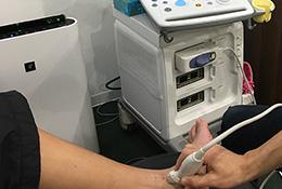 超音波観察装置による検査